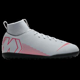 Nike  Bambino Superfly X 6 Club Tf Grigio/Rosso