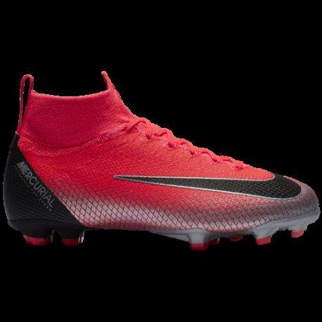 Nike Superfly 6 Elite Cr7 Fg Rosso/Nero Bambino