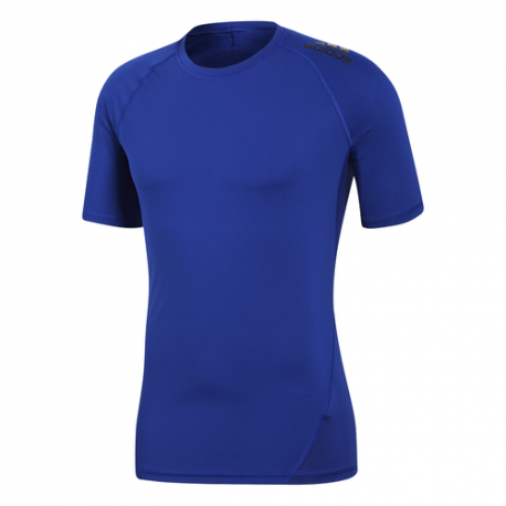Adidas Maglia Manica Corta Alphaskin Sport Blu Uomo