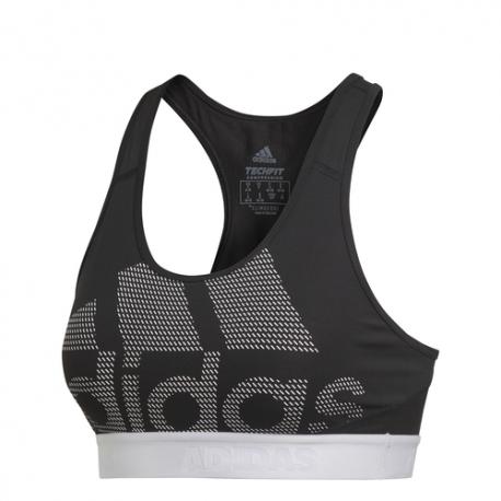 Adidas Reggiseno Sportivo Don't Rest Alphaskin Nero Bianco Donna