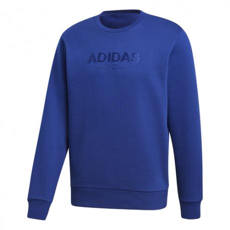 Adidas Felpa Essential AllCap Crew Blu Uomo