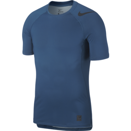 Nike Maglia Manica Corta Pro HyperCool Blu Uomo