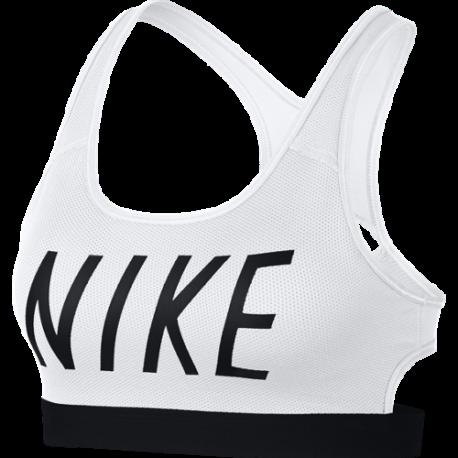 Nike Reggiseno Sportivo Logo Bianco Nero Donna