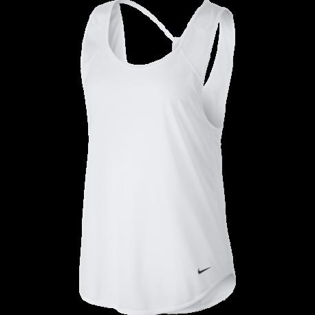 Nike Canotta Breathe Bianco Donna