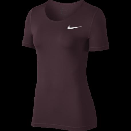 Nike Maglia Manica Corta SS All Over Burgundy Donna