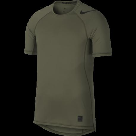 Nike Maglia Manica Corta Hypercool Fitted GFX Verde Uomo