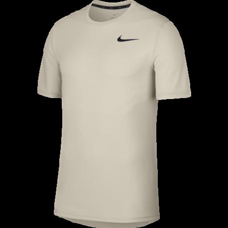 Nike Maglia Manica Corta SS HPR Dry Desert Sand Uomo