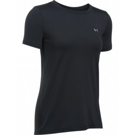 Under Armour Maglia Manica Corta HeatGear Nero Donna