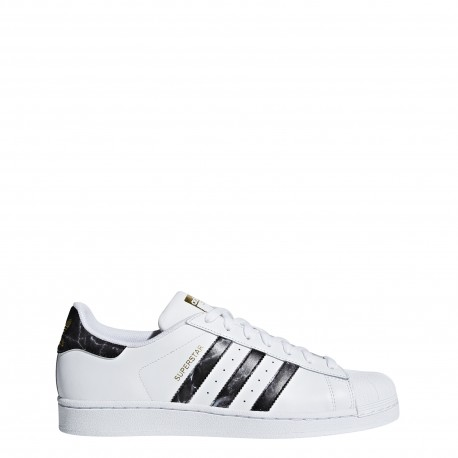 Adidas Originals Superstar Lea Bianche Nere fumo Uomo
