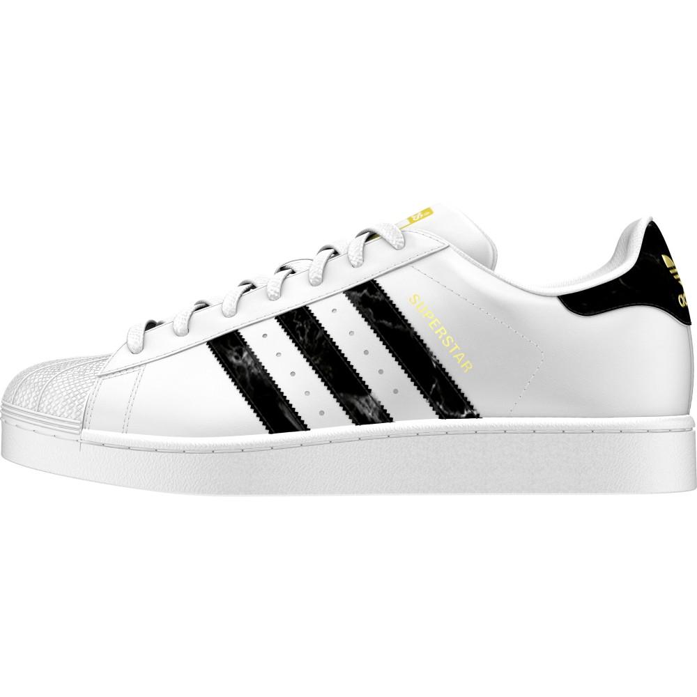 ... Adidas Originals Superstar Lea Bianche Nere fumo Uomo ...