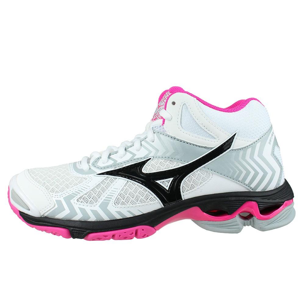 b249b8df ... ireland kvinner kvinner volleyball wave rosa mizuno bolt sko hvite 7 7  midt hwcpaqu 00efc 642a5