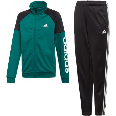 Adidas Tuta Linear Verde Bambino