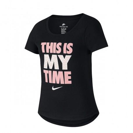 Nike T-shirt Nera Bambina