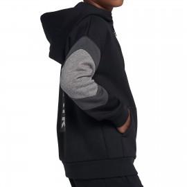 Nike Air Hoodie FZ Nero Grigio Bambino
