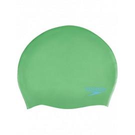 Speedo Cuffia Silicone Plain Moulded Junior Verde