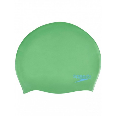 Speedo Cuffia Silicone Plain Moulded Junior Verde