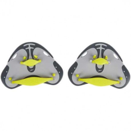 Speedo Biofuse Finger Paddle Grigio Lime