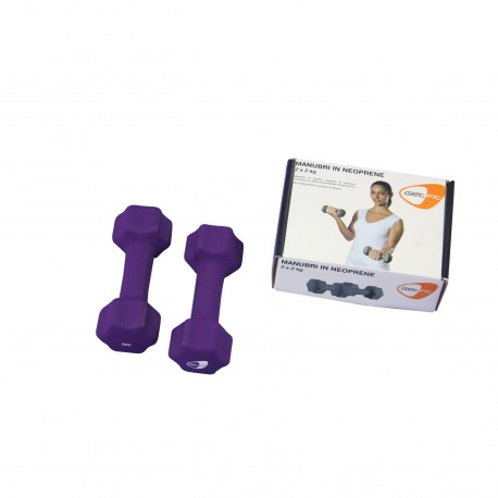 Get Fit Neoprene Dumbbell Box 2 PZ x 2 Kg