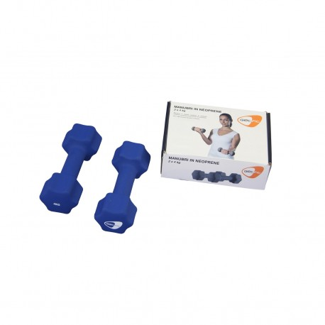 Get Fit Neoprene Dumbbell Box 2 PZ x 4 Kg