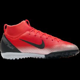 Nike  Bambino Superfly 6 Academy Gs Cr7 Tf Rosso/Nero