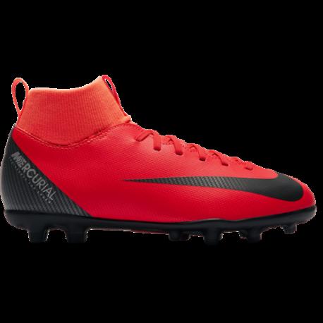 Nike  Bambino Superfly 6 Club Cr7 Fg/Mg Rosso/Nero
