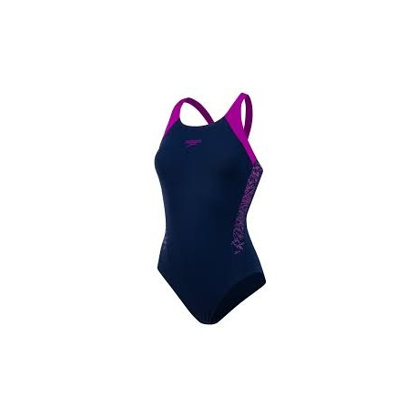 b8977852c99e Speedo Costume Intero Boom Splice Navy Donna ...