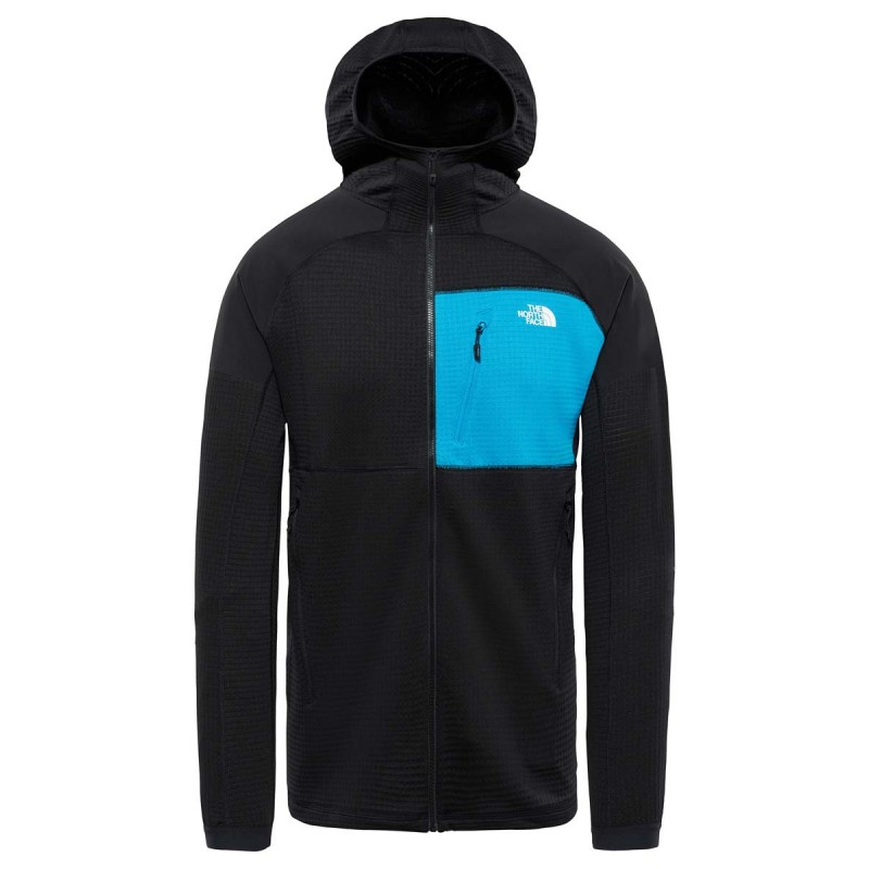 The North Face Felpa Con Cappuccio In Pile Impendor Grid Nero Blu Uomo