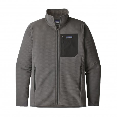 Patagonia Giacca In Pile R2 Techface Grigio Scuro Uomo