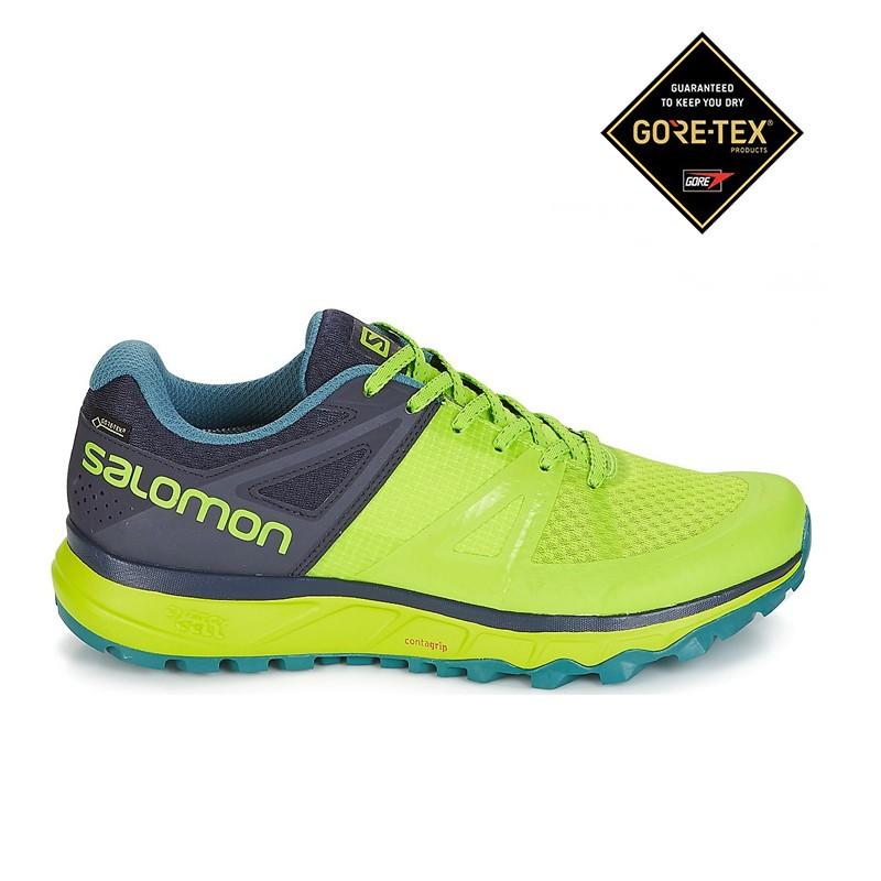 comprare on line 44bd4 6c4e2 Salomon Scarpe Trail Running Trailster Gore Tex Lime Uomo