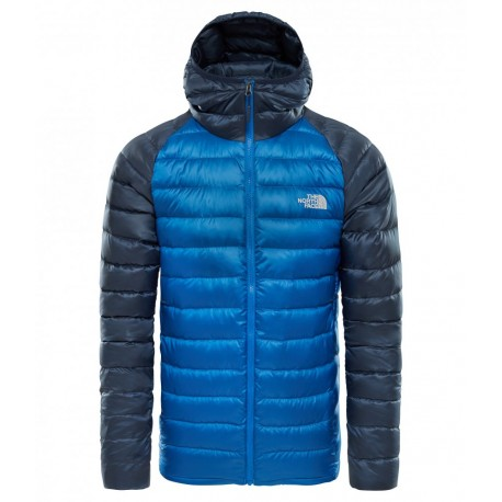 The North Face Giacca Con Cappuccio In Piuma Trevail Blu Uomo ... d18833ac96c5