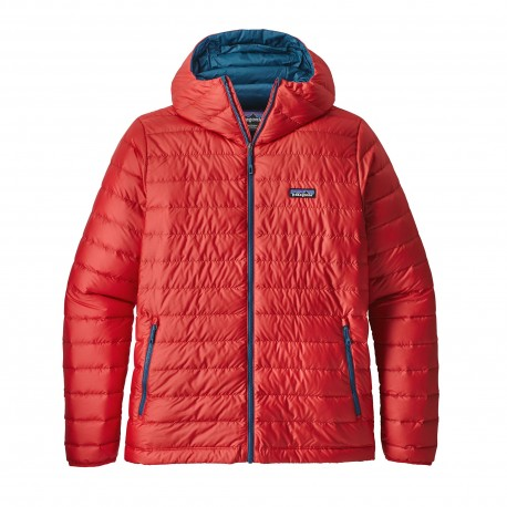 Patagonia Giacca In Piuma Con Cappuccio Down Sweater Rosso Uomo