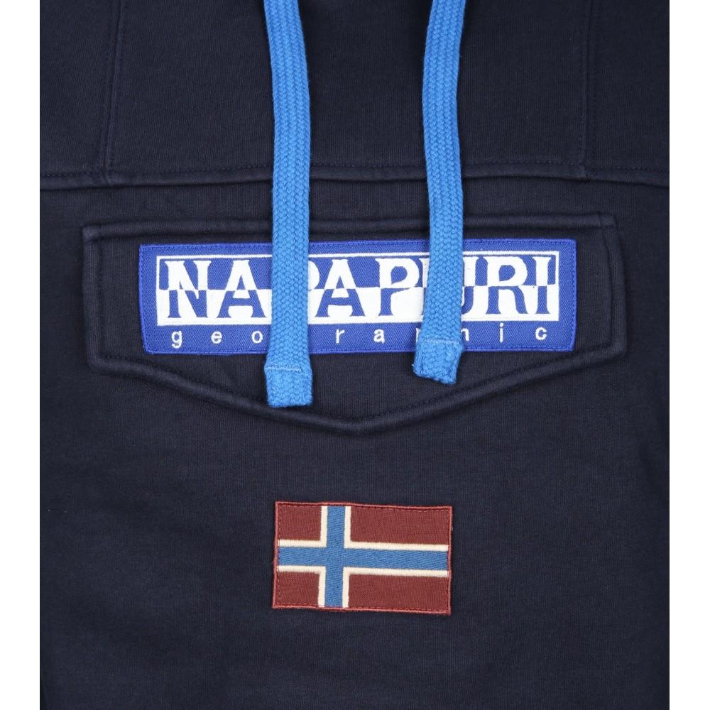 e24e35d9fd918 Napapijri Felpa Burgee Blu Uomo - Acquista online su Sportland