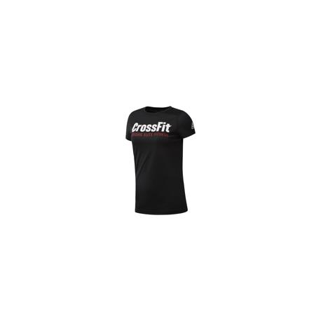 Reebok T-Shirt Manica Corta Cross Fit Donna Nero