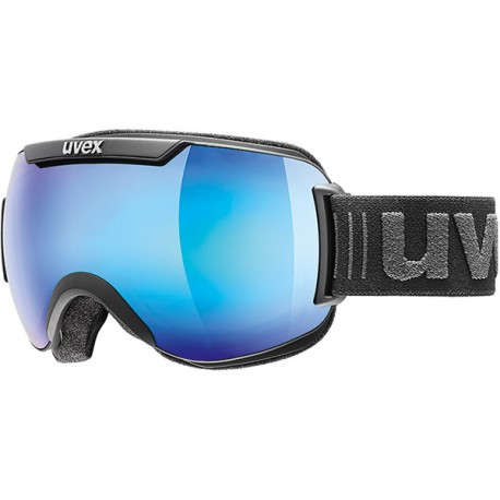 Uvex Maschera Downhill 2000 FM Nero Opaco Blu Uomo