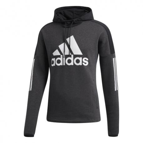 Adidas Felpa Logo Con Cappuccio Nero Uomo