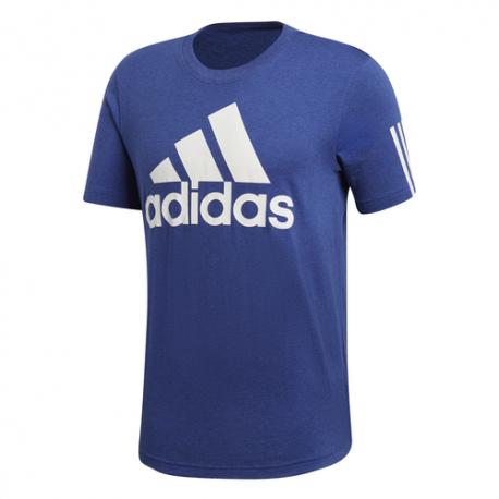 Adidas T-Shirt Con Logo Blu Uomo