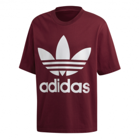 ADIDAS originals t-shirt con logo bordeaux uomo