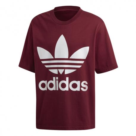 Adidas T-Shirt Con Logo Bordeaux Uomo