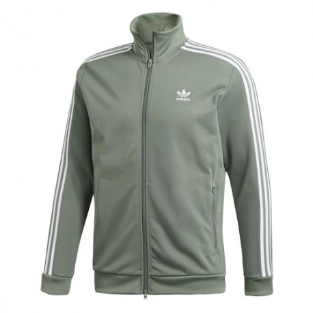Adidas Felpa Beckenbauer Zip Con Cappuccio Verde Uomo