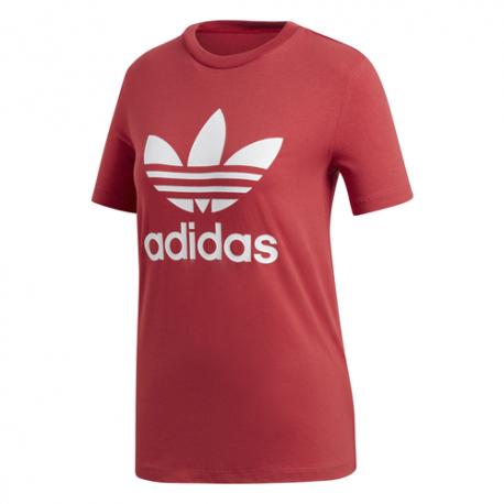 Adidas T-Shirt Logo Rosso Donna