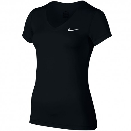 Nike T-Shirt Mm Swosh Donna Nero