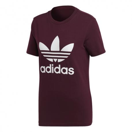 Adidas T-Shirt Trefoil Logo Bordeaux Donna