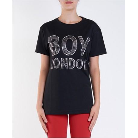 Boy London T-Shirt Borchie Nero Donna