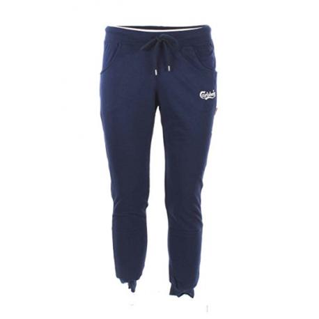Carlsberg Pantalone Ricamo Blu Uomo