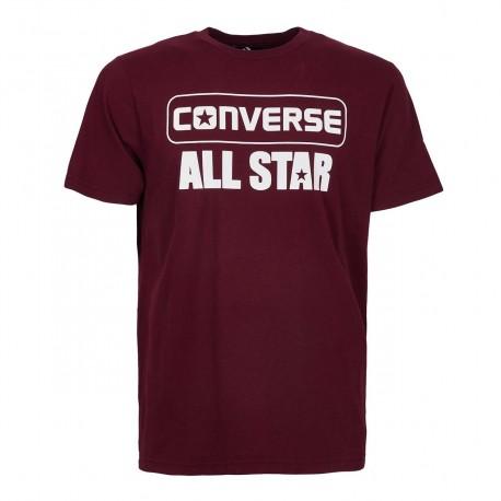 Converse T-Shirt Logo Bordeaux Uomo