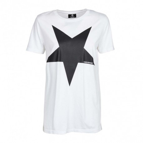 Converse T-Shirt MM Bianco Donna