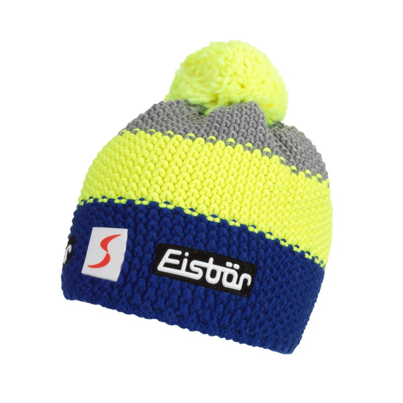 Eisbar Berretto Star Neon Pompon Blu Giallo Uomo - Acquista online ... 257527387be7