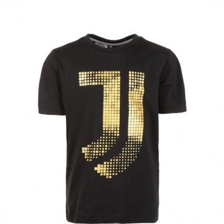 Adidas T-shirt Manica Corta Juve Cotton Nero Uomo
