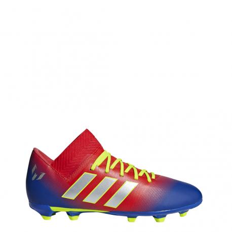 ca9c6daf733611 Adidas Nemeziz Messi 18.3 FG Rosso Argento Bambino ...