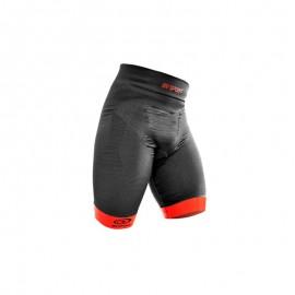 Bv Sport Pantaloncino CSX Nero Rosso